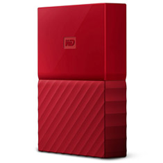 Western Digital WD My Passport Portable HDD 4TB Red