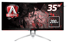 AOC AGON AG352QCX 35in Curved 200Hz MVA FreeSync Gaming Monitor