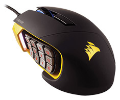 Corsair Scimitar Pro RGB Optical Gaming Mouse Black/Yellow