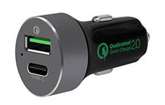 mbeat QuickBoost C Certified QC 2.0 & Type-C Car Charger