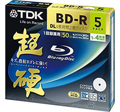 TDK 25GB Blu-Ray White Printable 5 Pack with Jewel Case