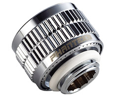 Phanteks 16/10mm Soft Tube Compression Fitting G1/4 Chrome