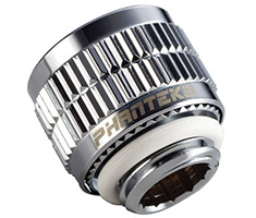 Phanteks 13/10mm Soft Tube Compression Fitting G1/4 Chrome