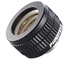 Phanteks 16mm Hard Tube Compression Fitting G1/4 Black