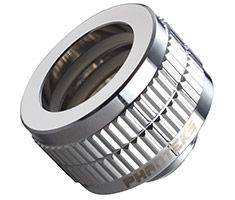 Phanteks 16mm Hard Tube Compression Fitting G1/4 Chrome