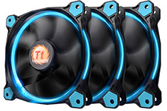 Thermaltake Riing 12 High Static Pressure Blue LED Fan 3 Pack