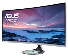 ASUS Designo Curve MX34VQ 34in Ultra-Wide QHD Curved Monitor