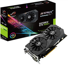ASUS ROG Strix GeForce GTX 1050 Ti Gaming OC Edition 4GB