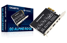 Gigabyte Alpine Ridge Dual Thunderbolt 3 Card