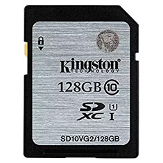 Kingston SDXC/SDHC Class 10 UHS-I 128GB