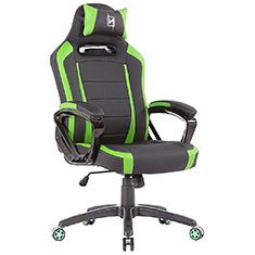 N Seat Pro 300 Series Ergonomic Gaming Chair Black/Green