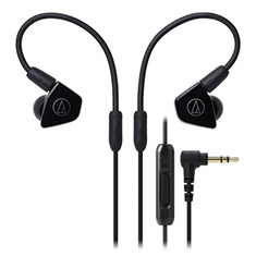 Audio Technica ATH-LS50iS Inner Ear Headphones Black