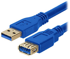 Astrotek USB 3.0 Extension Male-Female Cable Blue 1m