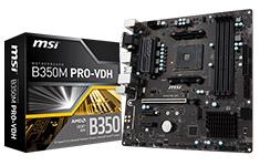 MSI B350M PRO-VDH Motherboard