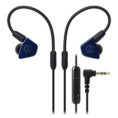 Audio-Technica LS50iS Inner-Ear Headphones Navy