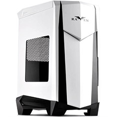 Silverstone Raven RV05 Case with Window White - Open Box
