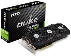 MSI GeForce GTX 1070 Duke OC 8GB