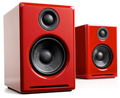 Audioengine 2+ Powered Speakers Red