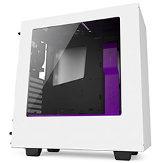 NZXT S340 Mid Tower Case White/Purple