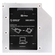 Orico Aluminium 7 & 9.5 mm Internal Hard Drive Caddy for Laptops