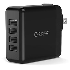 Orico 34W 4 Port Smart Wall Travel Charger Black