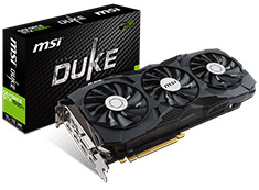 MSI GeForce GTX 1080 Ti Duke OC 11GB