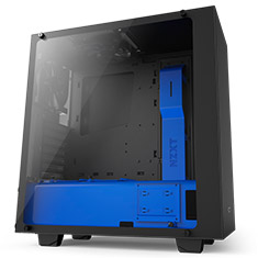 NZXT S340 Elite Matte Black and Blue