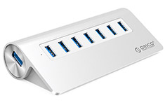 Orico M3H7-SV Aluminium 7 Port USB 3.0 Powered Hub Silver