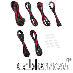 CableMod C-Series AXi, HXi & RM Essentials Cable Kit Black/Red