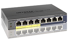 Netgear ProSAFE GS108PE 8-Port Gigabit Switch with POE