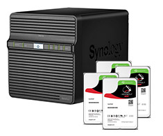 Synology DS416J + 4 x Seagate ST4000VN008 HDD Bundle