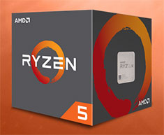 AMD Ryzen 5 1600 Processor with Wraith Spire