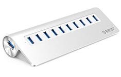 Orico M3H10 10 Port USB 3.0 Aluminium Hub Silver