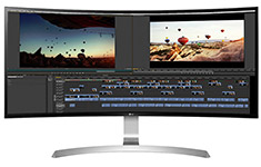 LG 34UC99-W UWQHD Curved 34in IPS Monitor