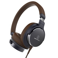 Audio-Technica ATH-SR5 On Ear Headphones Navy Brown