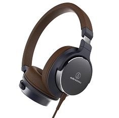 Audio-Technica ATH-SR5 On Ear Headphones Navy Brown