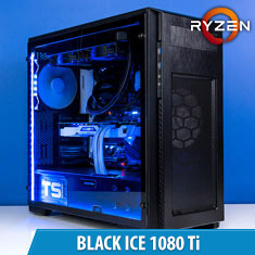PCCG Black Ice 1080 Ti Gaming System