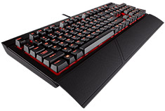 Corsair K68 IP32 Spill Resistant Mechanical Keyboard Cherry Red