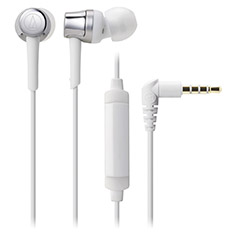 Audio Technica ATH-CKR30iS In-Ear with Mic Silver