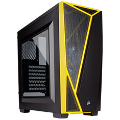 Corsair Carbide Series SPEC-04 Gaming Case Black Yellow