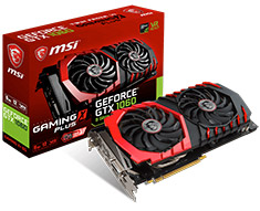 MSI GeForce GTX 1060 Gaming X+ 6GB
