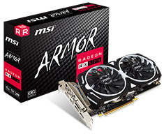 MSI Radeon RX 570 Armor OC 4GB