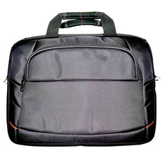 STC Top Load Laptop Bag Black Nylon for 15.6in Laptops