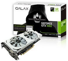 Galax GeForce GTX 1060 EXOC White 6GB