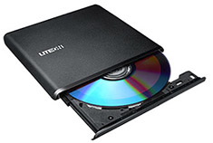 Lite-On ES1 Ultra Slim External DVD Writer Black