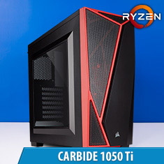 PCCG Carbide 1050 Ti Gaming System