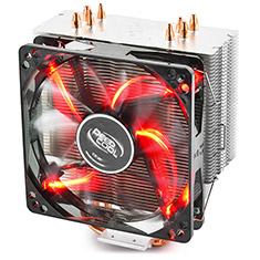 Deepcool Gammaxx 400 CPU Cooler Red LED Fan