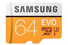 Samsung EVO 64GB microSDXC UHS-I with Adapter