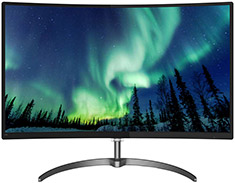 Philips 328E8QJAB5 FHD FreeSync Curved 32in VA Monitor
