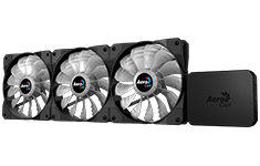 Aerocool P7-F12Pro RGB Hub and 120mm RGB Fans (3 Pack)